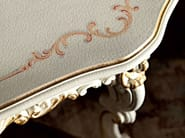 Coffee table floral inlays carved craquele wood luxury - Villa Venezia Collection - Modenese Gastone