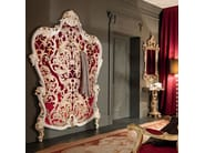 Hall stand with hooks and craquele wood style embroidery - Villa Venezia Collection - Modenese Gastone
