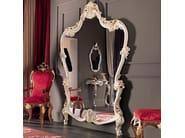 Wide figured mirror craquele timber style - Villa Venezia Collection - Modenese Gastone