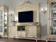 TV-stand hardwood Italian furniture with display cabinet - Casanova Collection - Modenese Gastone
