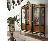 Luxury Italian glass cabinet with gold leaf applications - Casanova Collection - Modenese Gastone