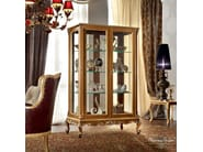 Glass cabinet handmade in walnut in classic style - Casanova Collection - Modenese Gastone