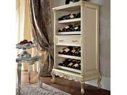 Luxury living room furnishing hardwood bottle rack - Casanova Collection - Modenese Gastone