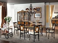 Classical dining room with extendable hardwood table - Casanova Collection - Modenese Gastone