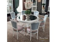 Fashionable dining room round table with mirror top - Casanova Collection - Modenese Gastone