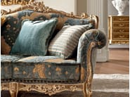 Venetian classic style sofa with embroidered fabrics Casanova collection - Modenese Gastone