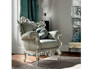 Upholstered carved armchair home decor - Casanova Collection - Modenese Gastone