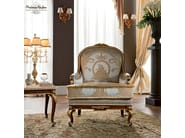Luxury upholstered and padded armchair embroidery - Casanova Collection - Modenese - Gastone