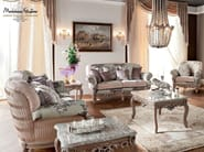 Living room with padded and pleated upholstery - Casanova Collection - Modenese Gastone