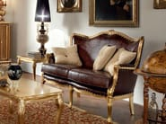 Office furnishing leather padding and hardwood couch - Casanova Collection - Modenese Gastone