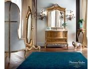 Luxury bathroom with radica briar root cabinet - Casanova Collection - Modenese Gastone
