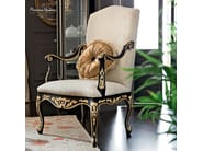 Pleated padding hardwood chair with armrests - Casanova Collection - Modenese Gastone