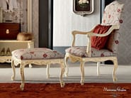 Soft and embroidered fabrics armchair and pouf - Casanova Collection - Modenese Gastone