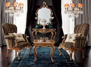 Pop coloured and striped fabric of armchair - Casanova Collection - Modenese Gastone