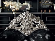 Arrmchair silver leaf velvet carves and embroidery - Casanova Collection - Modenese Gastone