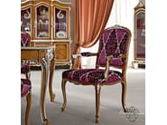 Classic luxury padded chair with armrests vogue style - Casanova Collection - Modenese Gastone