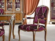 Upholstered fabric chair with armrests 12506 | Chair with armrests - Modenese Gastone group