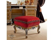 Luxury classic Italian pouf covered by padded and pleated velvet - Casanova Collection - Modenese Gastone