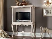 Hardwood ivory walnut carved TV-stand - Casanova Collection - Modenese Gastone