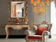 Classic luxury furniture console with marble top and mirror - Casanova Collection - Modenese Gastone