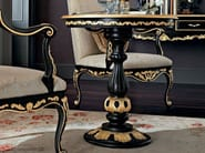 Solid wood round table with black craquele top - Casanova Collection - Modenese Gastone
