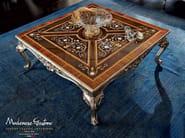 Salon furnishing inlaid carved coffee table - Casanova Collection - Modenese Gastone