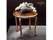 Round coffee table hardwood silver leaf applications - Casanova Collection - Modenese Gastone