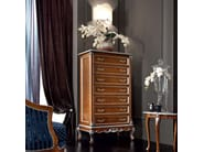 Walnut luxury office furnishing chest of drawers - Casanova Collection - Modenese Gastone