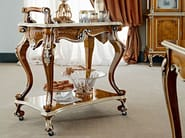 Walnut carved tea cart luxury classic accessory - Casanova Collection - Modenese Gastone