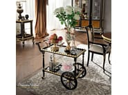 Luxury classic dining accessory tea cart with scalloped border - Casanova Collection - Modenese Gastone
