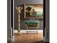 Classic golden walnut hall tree and flower box - Casanova Collection - Modenese Gastone