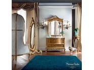 Luxury bathroom with radica briar root cabinet - Casanova Collection - Modenese Gastone