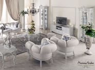 Ivory living room with soft upholstery luxury furniture - Bella Vita Collection - Modenese Gastone