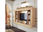 Bookcase hardwood tv-stand carved briar root frame - Bella Vita Collection - Modenese Gastone