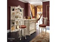 Luxury hardwood bar with stool with metal foot ring - Bella Vita Collection - Modenese Gastone