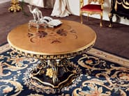Luxury living room harwood table detail with gold carves - Bella Vita Collection - Modenese Gastone