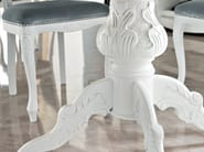 Ivory hardwood luxury dining table leg carved and polished - Bella Vita Collection - Modenese Gastone