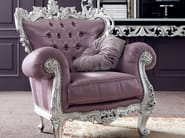 Vogue carved silver leaf furniture for living room - Bella Vita Collection - Modenese Gastone