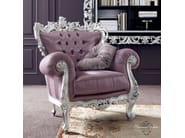 Classical vogue upholstered armchair Venetian style - Bella Vita Collection - Modenese Gastone