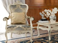 Luxury padded and embroidered chair with armrests - Bella Vita Collection - Modenese Gastone