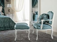 Classic luxury interiors padded armchair and pouf - Bella Vita Collection - Modenese Gastone