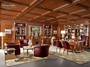 Chesterfield office hardwood luxury interior design - Bella Vita Collection - Modenese Gastone