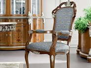Luxury classic hardwood chair silver leaf applications - Bella Vita Collection - Modenese Gastone