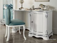 Hardwood chair soft fabric embroidered by hand  and writing desk - Bella Vita Collection - Modenese Gastone