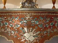 Painted masterpiece luxury hanmade console carve detail - Bella Vita Collection - Modenese Gastone