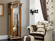 Solid wood glass cabinet padded armchair and pouf - Bella Vita Collection - Modenese Gastone