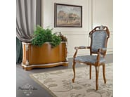 Luxury classic hardwood vase stand and chair silver leaf applications - Bella Vita Collection - Modenese Gastone