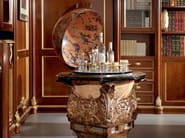 Globe bar inlaid hardwood luxury interior design - Bella Vita Collection - Modenese Gastone