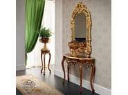 Luxury classic walnut console with tailor made mirror - Bella Vita Collection - Modenese Gastone