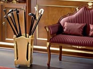 Solid wood refined umbrella stand and little padded sofa Bella Vita collection Modenese Gastone